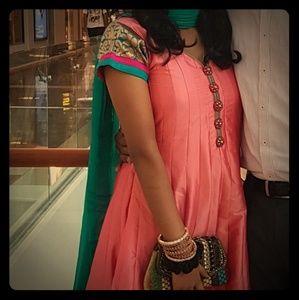 Pink Anarkali